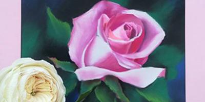 Онлайн курс Роза пастелью