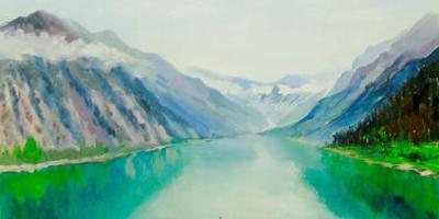 Онлайн курс Горное озеро маслом