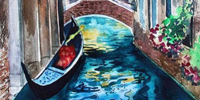 Онлайн курс Сказочная Венеция акварелью