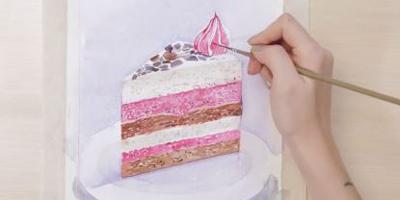 Бесплатный мастер-класс food-акварели: рисуем торт