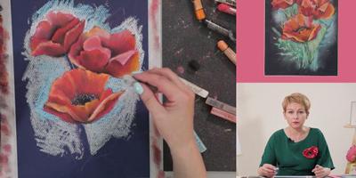 Цветы в пастельной живописи - St'Art