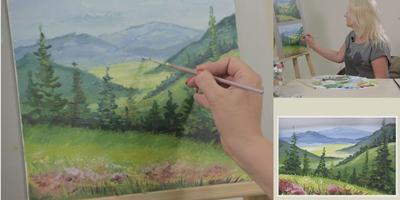 Пишем быстрый этюд «Лесная поляна»  - St'Art