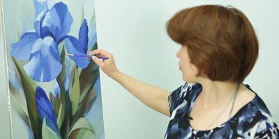 Прописываем  детально лепестки и листья - St'Art