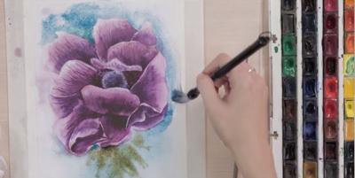 Пишем прекрасный цветок - St'Art