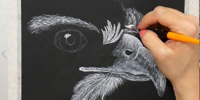 Проработка перьев и клюва - St'Art