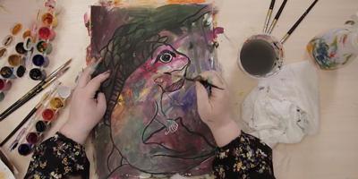 """Секреты интуитивной живописи """"Погружение в образы"""" от мастера - St'Art"""