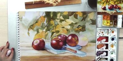 Рисуем стол и досточку с ножом - St'Art