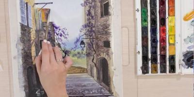 Пишем фрагмент улицы - St'Art