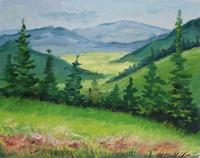 Референс для урока Пишем быстрый этюд «Лесная поляна»  - St'Art