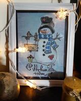 Работа ученика Александра Бурлакова по курсу Зимнее настроение пастелью
