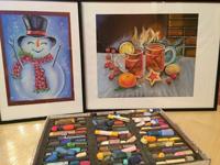 Работа ученика Наталья Шмидт по курсу Зимнее настроение пастелью