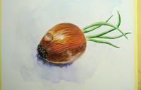 Работа ученика Петр  по курсу Ботаническая акварель