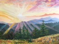 Работа ученика Тамара   Янкович по курсу Масляная живопись для начинающих