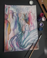 Работа ученика Александра Бурлакова по курсу Интуитивная живопись